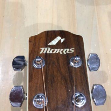 Morris アコースティックギター/ストラップピン追加
