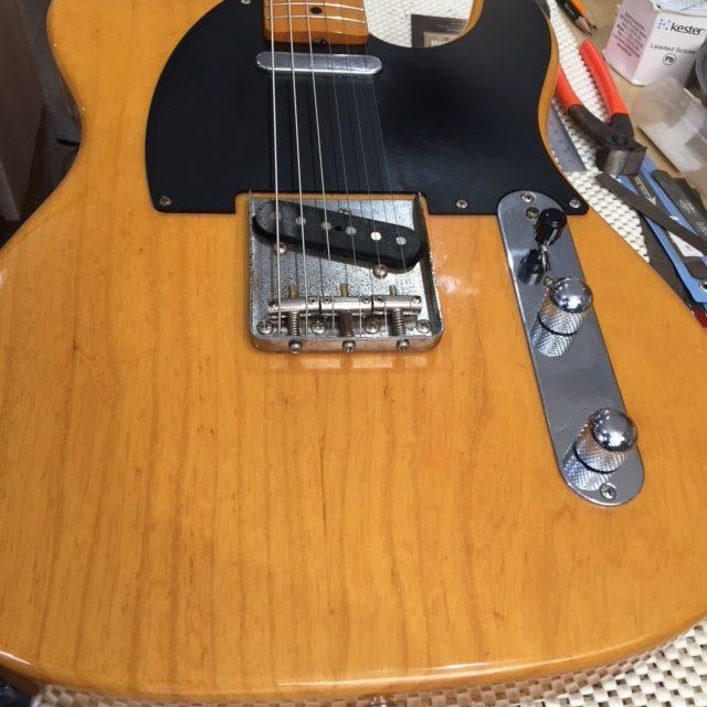 Fender TL / ナット交換,ジャックプレート交換,セットアップ