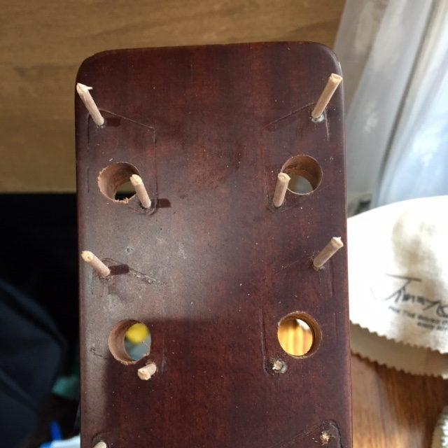 アコースティックギター/ペグ交換